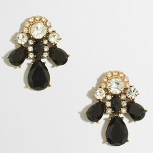  J. Crew Crystal and Stone Trio Earrings