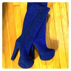 Luichiny Royal Blue Hot to Trot Boot