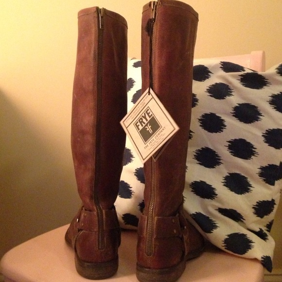 18% off Frye Boots - FRYE PHILLIP TALL BROWN RIDING BOOTS Sz 9M ...