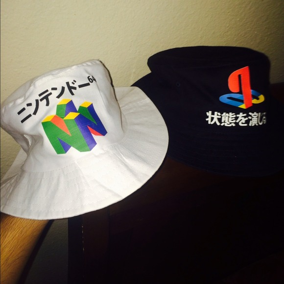 a54efd47517 Nintendo 64   Playstation KYC bucket hats. M 542cd3d8ba53407e830202c4