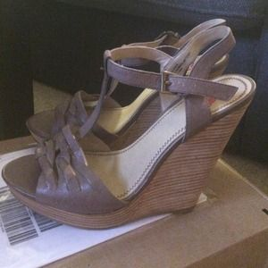 BP Brown leather wedges - size 7.5