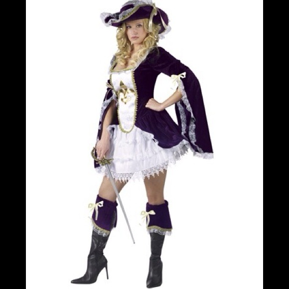 Purple Madam Musketeer adult womens costume  sc 1 st  Poshmark & Spirit Halloween Other | Purple Madam Musketeer Adult Womens Costume ...