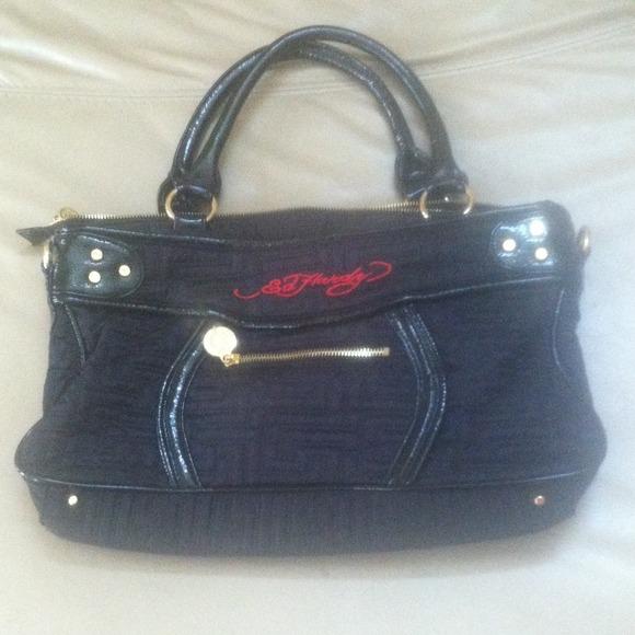 ae6d3c064e44 Black Ed Hardy Bag