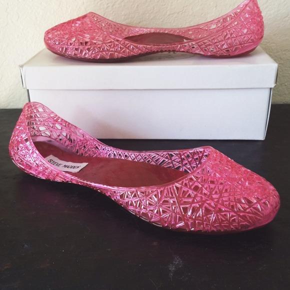 889477497ab Steve Madden P-Swirly Pink Jelly Flats