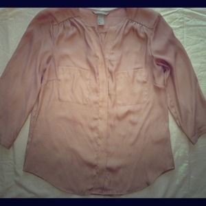 H&M nude blouse