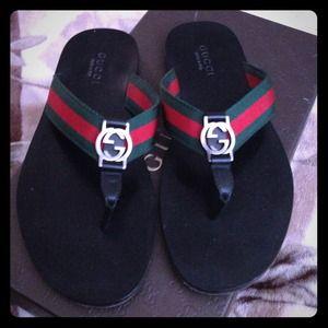 8bf2c90d65a Gucci Shoes - Authentic Gucci Flip Flops Size 8