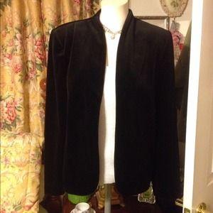 PERSONAL Jackets & Blazers - Black Velvet Texture Blazer Jacket Coat  ~PERSONAL