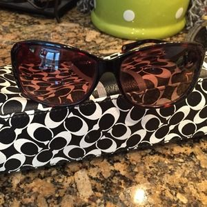 Authentic coach TARYN tortoise sunglasses