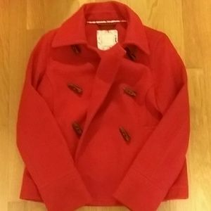Old Navy red toggle swing coat