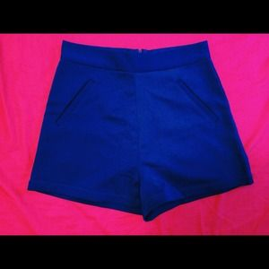 Delightful Designs Pants - NWOT High waist Royal Blue Short (Small Size)