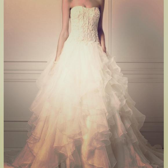 Oleg Cassini Wedding Dresses Ruffle