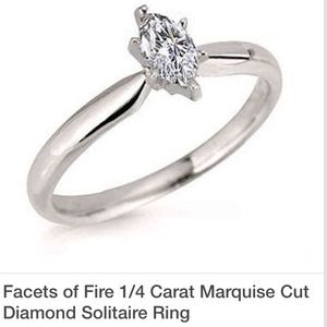Marquise Cut, Solitaire Diamond Ring