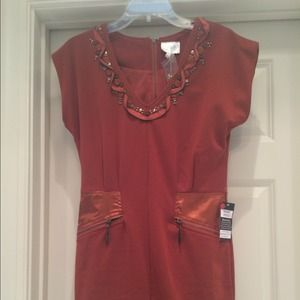 Orange dress, size medium