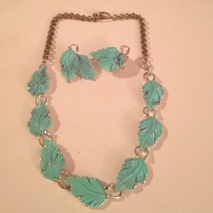 Vintage necklace and clip set