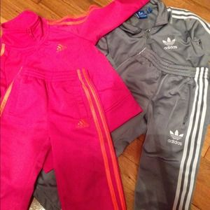 50% off Adidas Outerwear - Adidas Sweat Suit (Neon Green ...