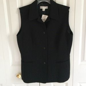 Casual Corner Tops - Black Business Casual Vest