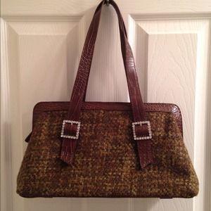 Valerie Stevens Handbags - Jewel Buckle Boho Bag