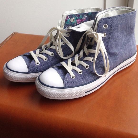 16bd3d550b7e Converse Shoes - 💰✂️CONVERSE denim-fold down high tops
