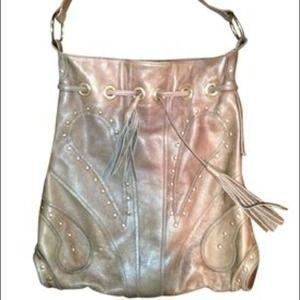 Bulga Large Studded Hobo Bag