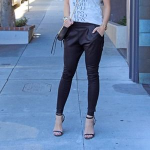Pants - Black Legging Harem Pants