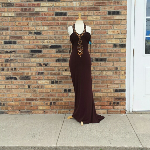 Jovani Dresses   Chocolate Brown Evening Gown   Poshmark