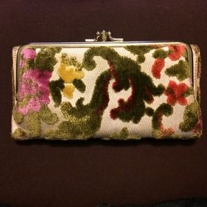 Vintage tapestry coin purse/clutch
