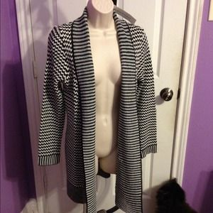 NWT black and white cardigan
