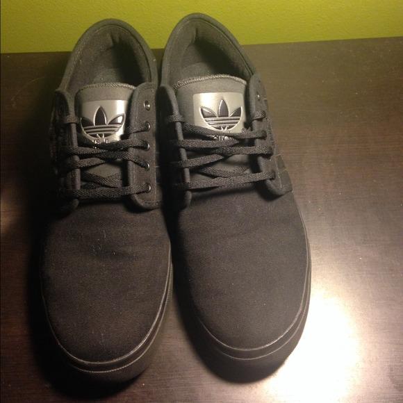 ba8ee9df1e35 adidas seeley black canvas skate shoe