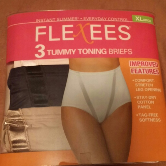445203eadf1b Flexees Other | 3 Tummy Toning Briefs Instant Slimmer Xl | Poshmark