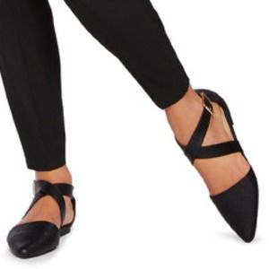 JustFab Shoes - Pointed Toe Strappy Flats