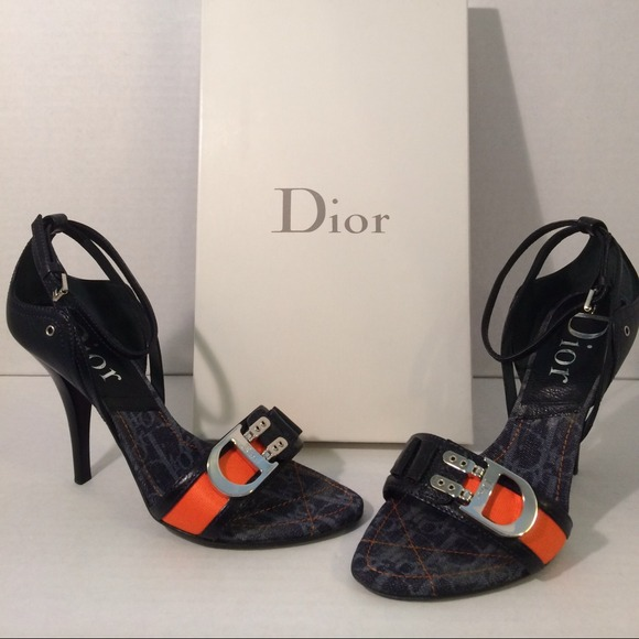 ba70fa35e51 Dior Shoes - Christian Dior Flight Denim Logo Heels. Size 38