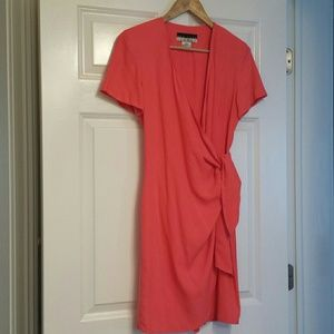 New York Studio Dresses & Skirts - Coral color silk wrap dress