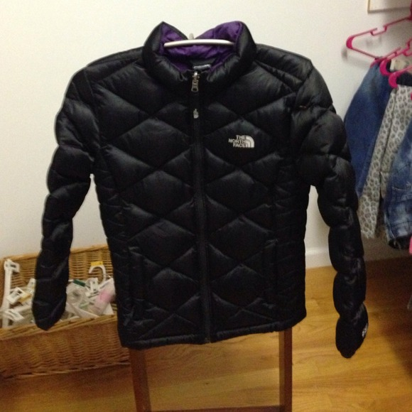 25f0799d3 North face girls large 14/16 black winter jacket.