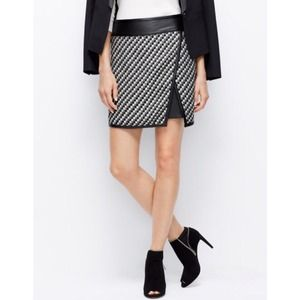 Ann Taylor Dresses & Skirts - Ann Taylor Faux Leather and Tweed Skirt