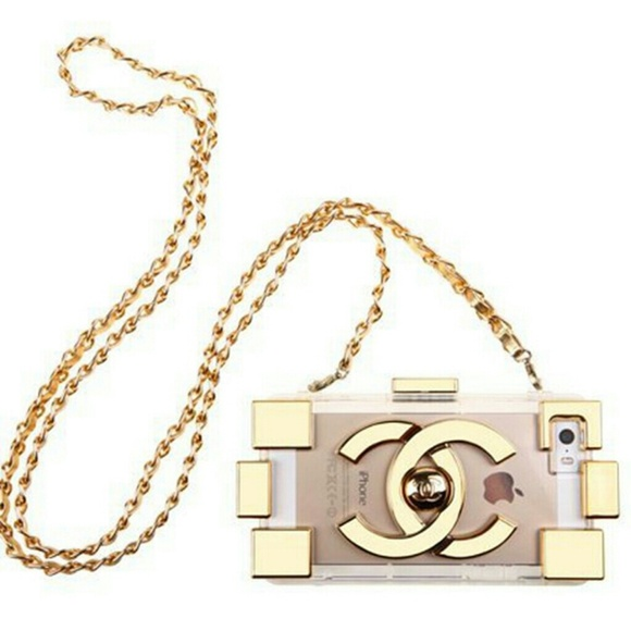 Accessories | Chanel Metallic Lego Iphone 6 Chain Case ...