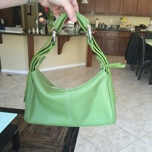 Handbags - Verapelle green leather handbag