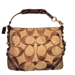Final PriceCoach Signature Carly Hobo Brown Tote