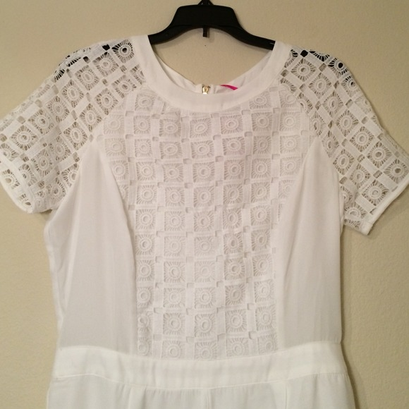 Boohoo Dresses - White Embroidered Romper, Boohoo, Sz 8