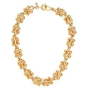 J.crew golden knot necklace