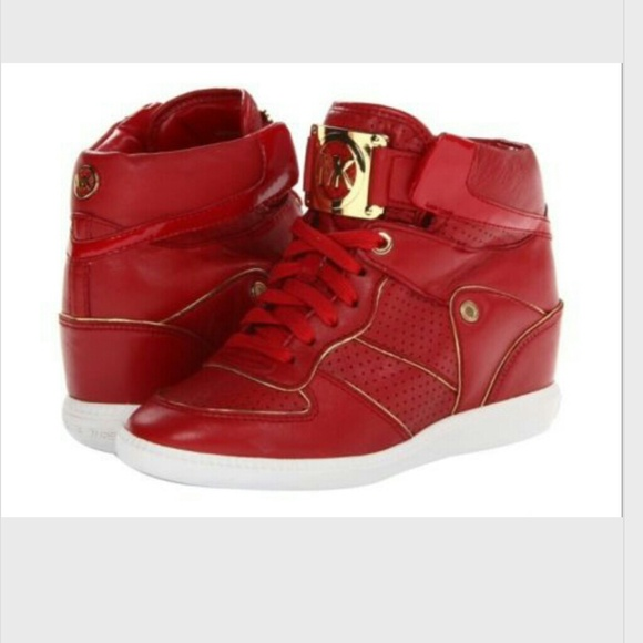 Michael Kors Shoes   Mk Red Sneakers