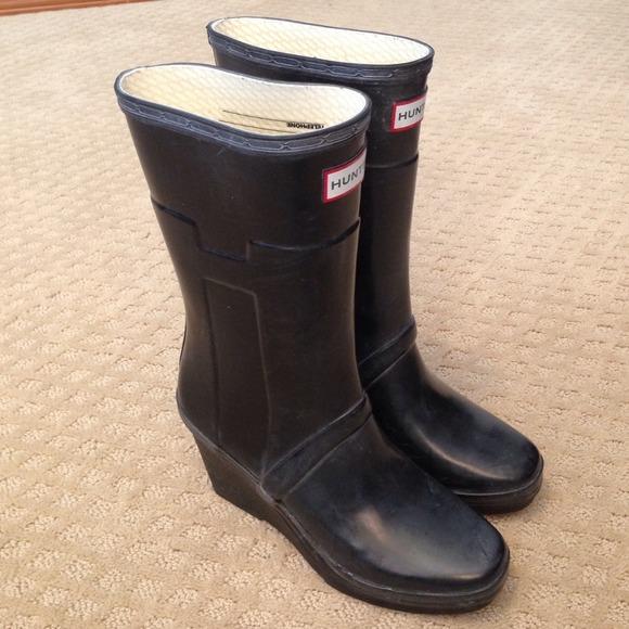 61% off Hunter Boots Boots - Hunter Kellan Wedge Rain Boot from