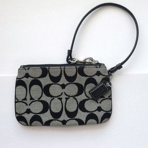 Coach Clutches & Wallets - Black Signature Wristlet