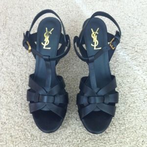 "Yves Saint Laurent Shoes - Authentic YSL ""tribute"" Sandals"
