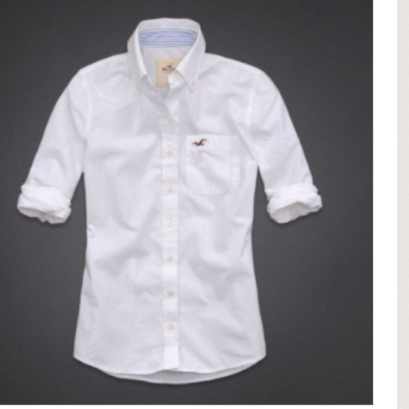 3b24097f7bc Men s Hollister White Button Up