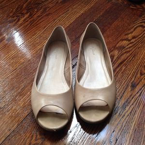Cole Haan Shoes - Nude Cole Haan Open-Toe Flats