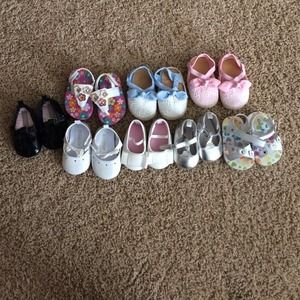 Other - Baby shoes. Girls Newborn to 6 month, sizes 0-2