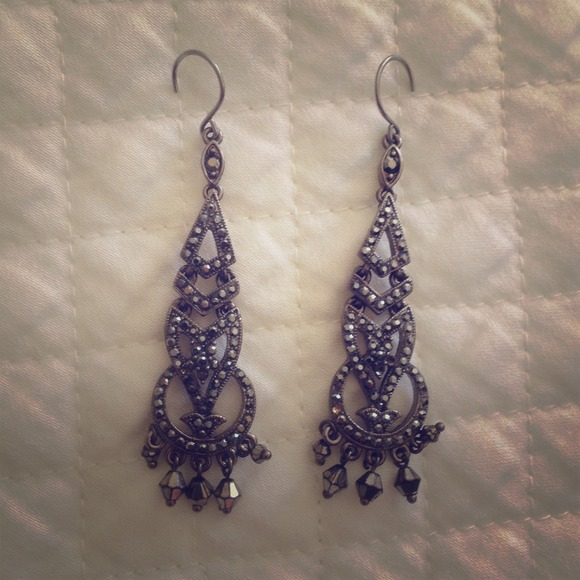 Monet jewelry marcasite chandelier earrings poshmark monet marcasite chandelier earrings aloadofball Image collections