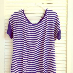 Zara long tee in stripes