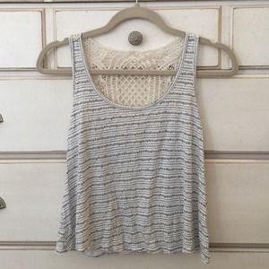 Crochet back tank