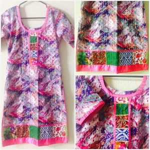 Dresses & Skirts - Pink Cotton Indian Style Tunic